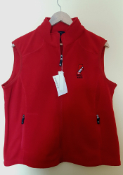 Fleece Vest (Ladies, Red)