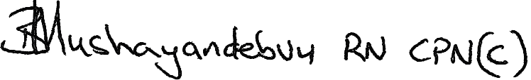 Barbara Mushayandebvu Signature